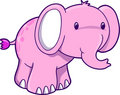 Pink Elephant Vector Illustration Stock Image