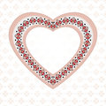 Pink embroidered heart Royalty Free Stock Photo