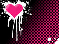 Pink emo heart background Royalty Free Stock Photo