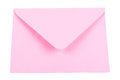 Pink envelope on a white background Royalty Free Stock Photos