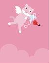 Pink Eros Cat Stock Photo