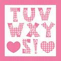 Pink fabric alphabet. Royalty Free Stock Image
