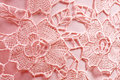 Pink fabric with ornament photo for a design Royalty Free Stock Photography