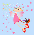 Pink fairy Royalty Free Stock Photography