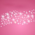 Pink fantasy background with stars vector illustration Stock Photos