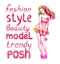 Pink fashion illustration Royalty Free Stock Photos