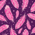 Pink feather pattern Stock Photography