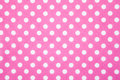 Pink Felt Polka Dot Background