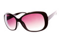 Pink female sunglasses isolated on white Royalty Free Stock Image