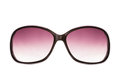 Pink female sunglasses isolated on white Royalty Free Stock Photography