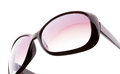 Pink female sunglasses isolated on white Royalty Free Stock Images