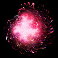 Pink fireworks Stock Photo