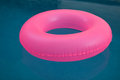 Pink float on a pool