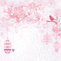 Pink Floral background