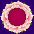 Pink Floral Circle Frame Royalty Free Stock Photo