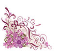 Pink floral corner design element Royalty Free Stock Photo