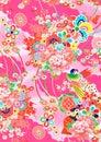 Pink Floral Japanese Kimono Style Pattern