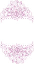 Pink floral ornaments white background Royalty Free Stock Image