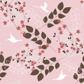 Pink floral pattern Stock Photography