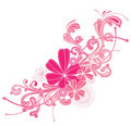 Pink flourish Stock Photography