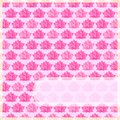 Pink Flower Card with Straight Label Royalty Free Stock Images