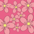 Pink flower pattern background Royalty Free Stock Photos