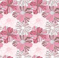 Pink flower pattern this is file of eps format Royalty Free Stock Images