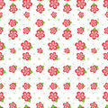 Pink Flower Seamless Tile Royalty Free Stock Photography