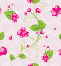 Pink flowers on the decorative background Stock Images