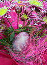 Pink flowers and  easter egg Royalty Free Stock Photography