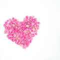 Pink flowers heart shape Royalty Free Stock Photo