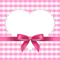 Pink frame with heart Stock Photos