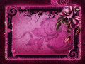 Pink frame with roses Royalty Free Stock Images