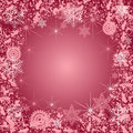 Pink Frost Royalty Free Stock Photography