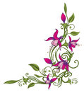 Pink fuchsia colorful floral element Royalty Free Stock Photography