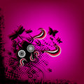 Pink funky nature illustration Stock Photography