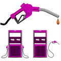Pink gas nozzle pointing Stock Photos