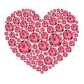 Pink gemstone heart ruby Royalty Free Stock Photo