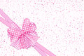 Pink gift bow and ribbons card Royalty Free Stock Images