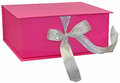 Pink gift box packages isolated on white background Royalty Free Stock Photo