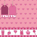 Pink gift wrap Stock Photo