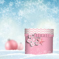 Pink giftbox, christmas motive Royalty Free Stock Photo