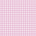 Pink Gingham Royalty Free Stock Photo