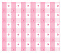 Pink gingham design with floral design Royalty Free Stock Photography