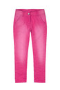 Pink girl trousers isolated on white Stock Photos