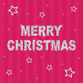 Pink glitter christmas Royalty Free Stock Photography