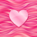 Pink glossy heart on silky background vector Royalty Free Stock Photography
