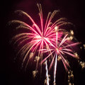 Pink and Gold Fireworks Royalty Free Stock Photo