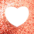 Pink Gold frame in the shape of heart. EPS 8 Royalty Free Stock Photography