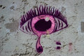 Pink Graffiti Tearful Eye On A...